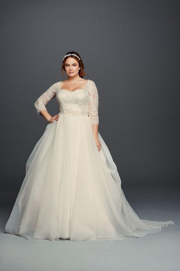 Organza plus size wedding dress