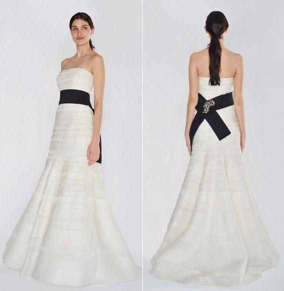 Designer vera wang style 2g119 neckline strapless for Vera wang trumpet wedding dresses