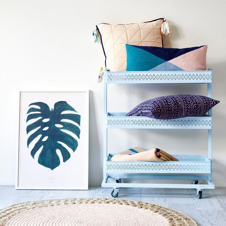 Leopold Block Printed Cushion | Sage and Clare
