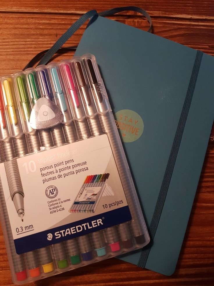 A little Leuchtturm journal and Staedtler markers are all you need to get started!
