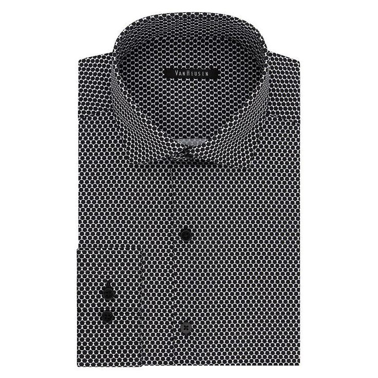 Big & Tall Van Heusen Flex Collar Slim Tall Dress Shirt, Men's, Size: 17.5 35-36, Dark Grey