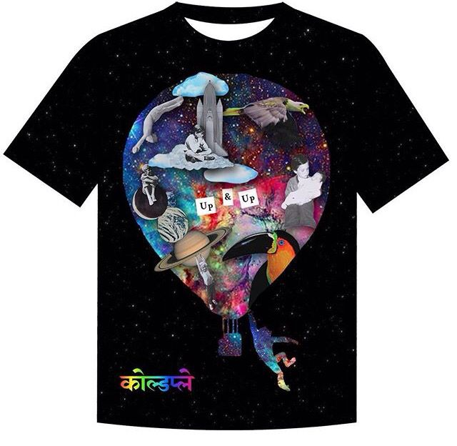 New designs for Coldplay shirts