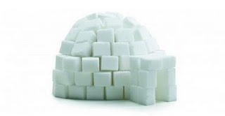 sugar cube igloos