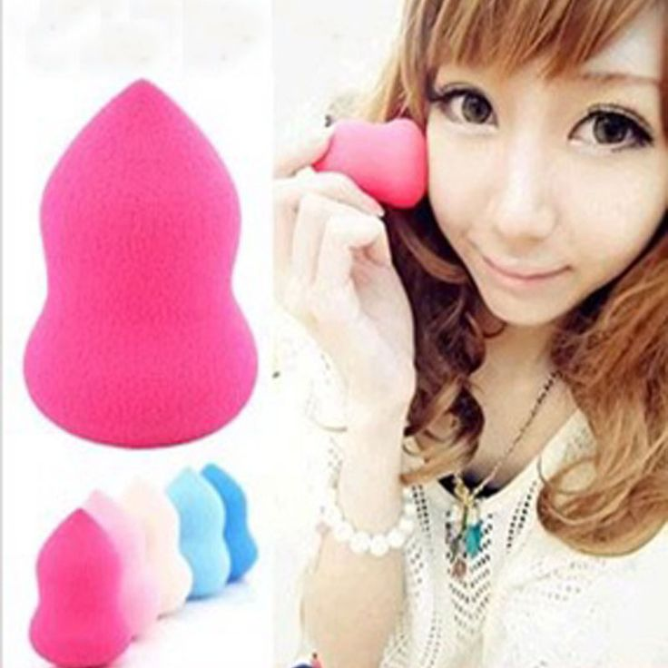 1PCS Fashion women gourd shape powder puff of many colors Beauty make-up sponge tool puff girl makeup tools accessories