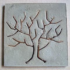 Nails on concrete tree