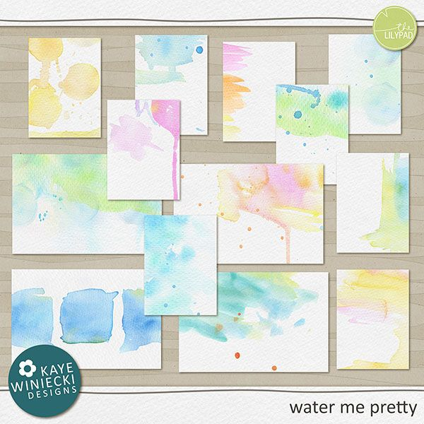 The Lilypad :: Pocket Scrapping :: water me pretty used it again and again