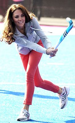Kate Middleton playing field hockey, probably the best sport in the world!