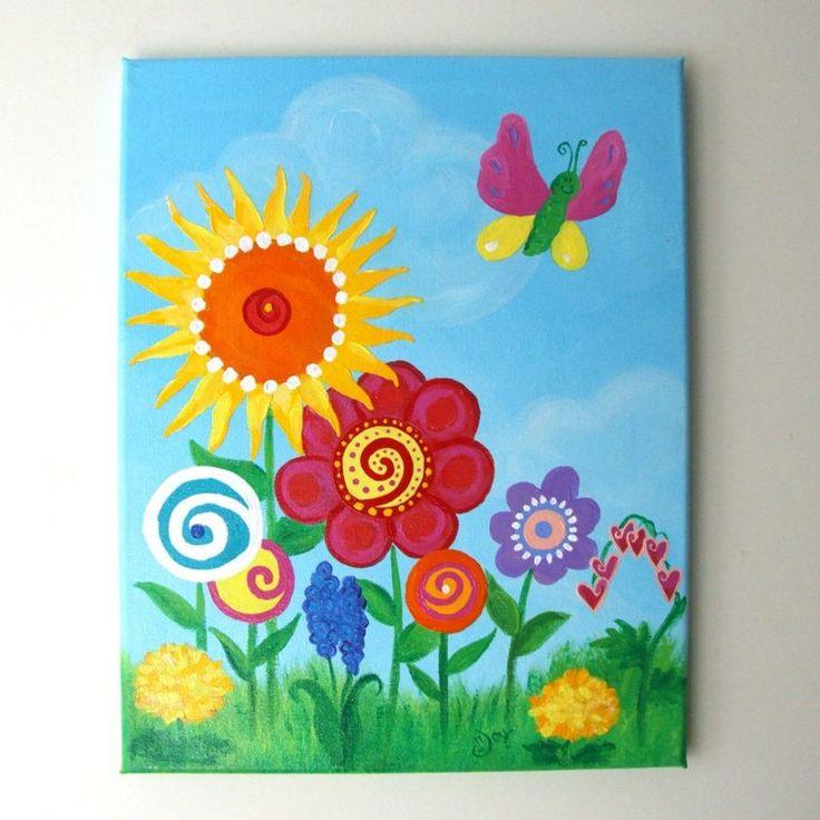 malen mit kindern eine bunte blumenwiese