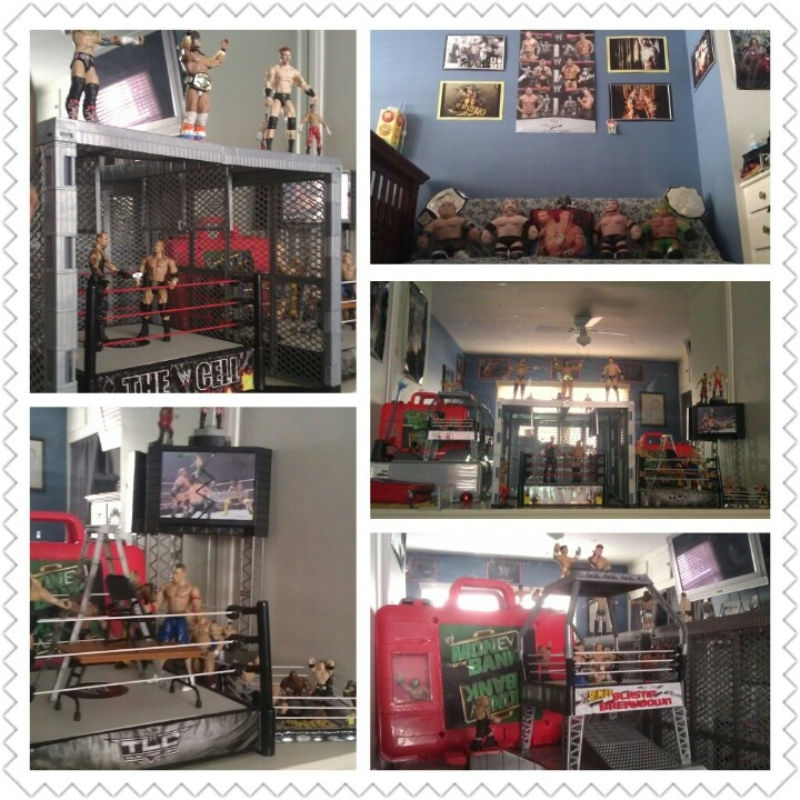 my son s bedroom wwe themed - Wrestling Bedroom Decor