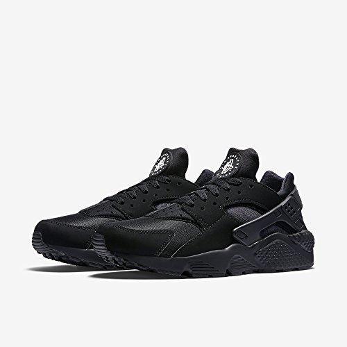 Nike Men's Air Huarache Black/Black/White Running Shoe (10)