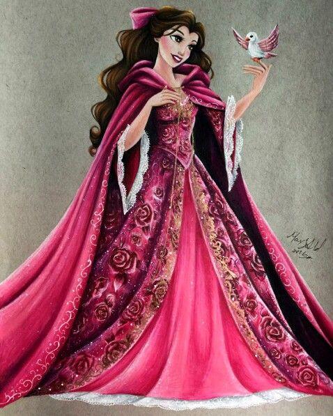 Belle (Drawing by MaxxStephen @Instagram) #BeautyAndTheBeast