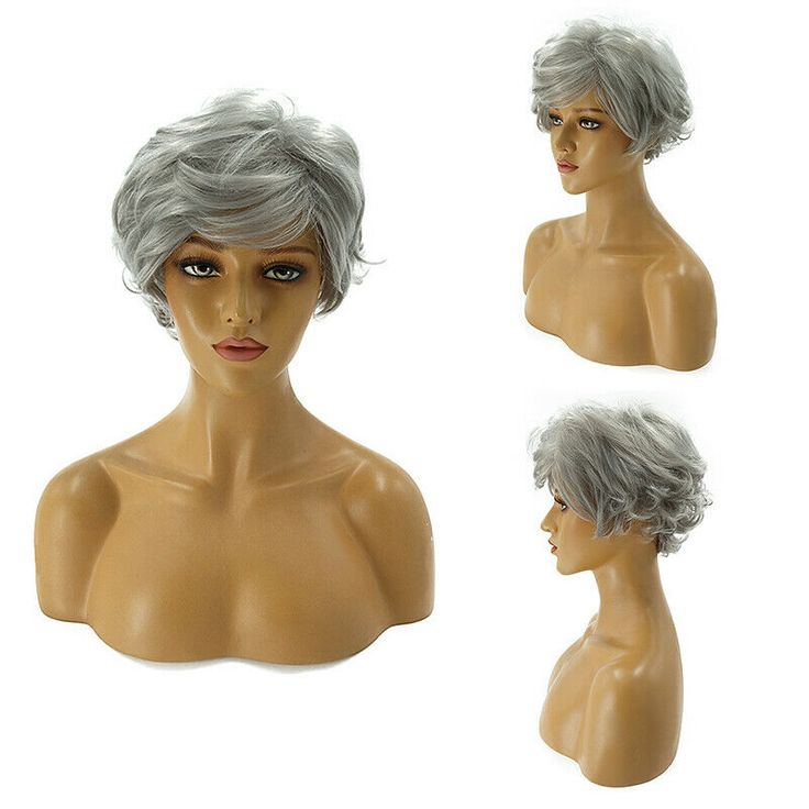 Lady Women's Short Curly Hair Wigs Pixie Straight Synthetic Party Cosplay Wigs #Ad , #spon, #Short#Curly#Hair
