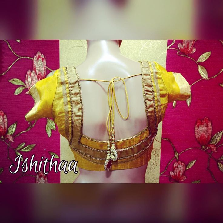Raw silk pattern blouse designed at Ishithaa ! :) Ping us on 9884179863 to book an appointment or for further enquiries. :) ishithaa designerblouse goldandyellow classy 05 July 2016 05 October 2016