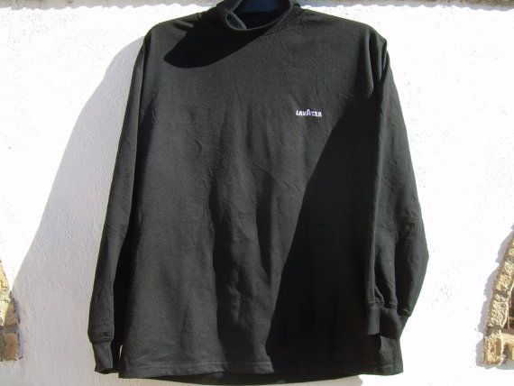 Lavazza sweat shirt  black  roll neck by csclothes on Etsy