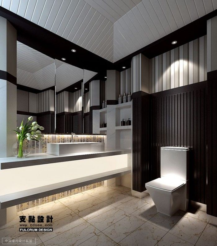 Black And White Bathroom Design Is One Of The Most Stylish Interiors That You Can Plan For Your Contemporary Bathroom