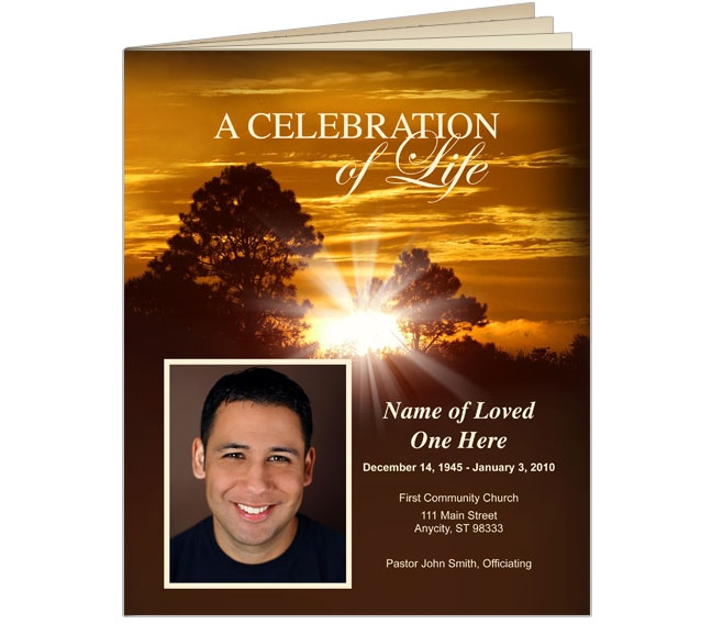 Best Obituary Template Images On   Free Stencils