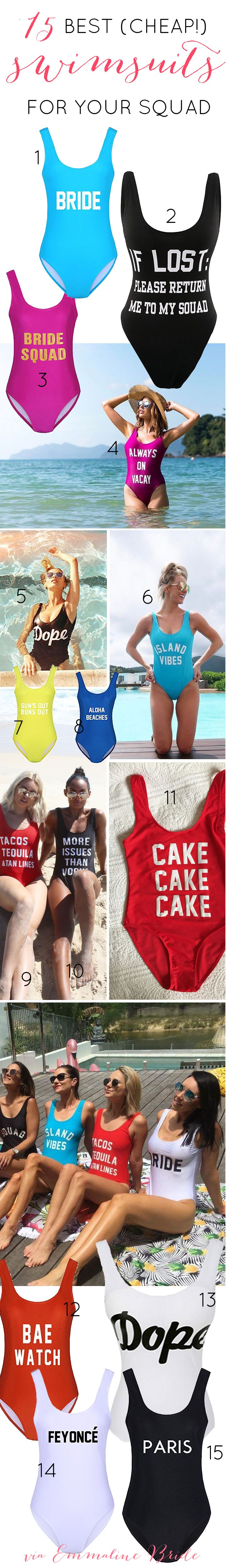 15 Best (+Cheap!) One Piece Swimsuits for your Squad | Great for your bachelorette party!