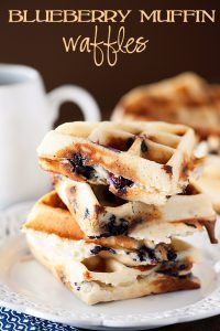 Waffle Iron Hacks and Easy Recipes for Waffle Irons - Blueberry Muffin Waffles - Quick Ways to Make Healthy Meals in a Waffle Maker - Breakfast, Dinner, Lunch, Dessert and Snack Ideas - Homemade Pizza, Cinnamon Rolls, Egg, Low Carb, Sandwich, Bisquick, Savory Recipes and Biscuits http://diyjoy.com/waffle-iron-hacks-recipes