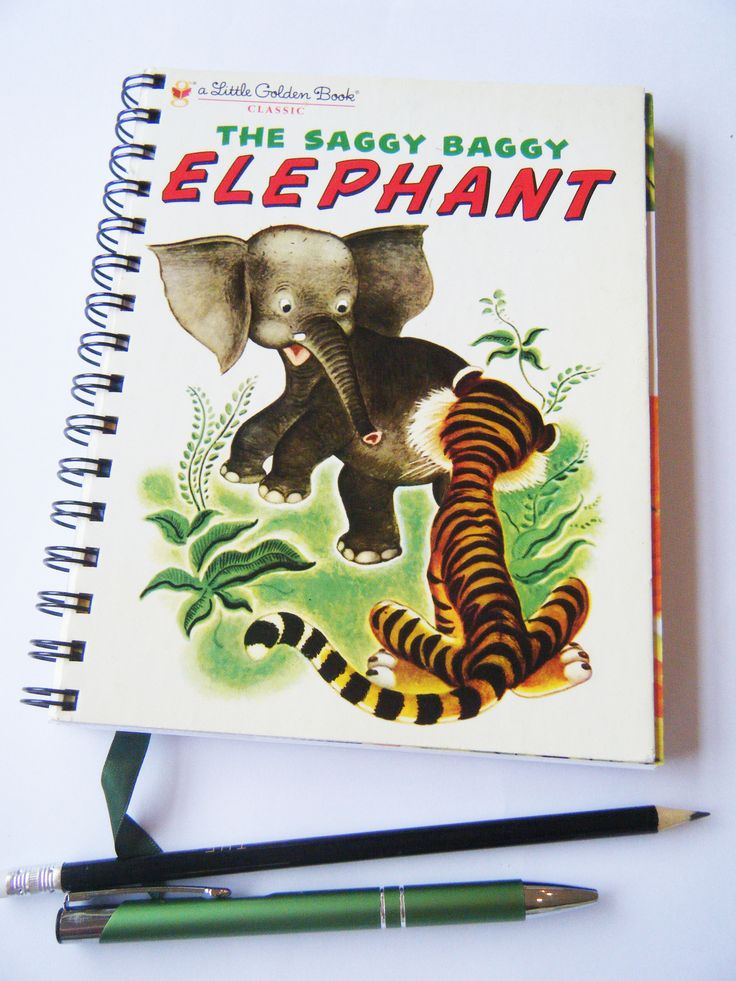 Journal/dairy or notebook recycled from a Little Golden Book