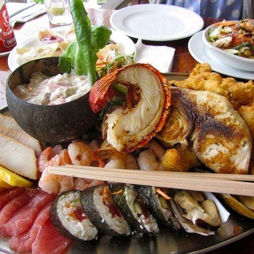 Seafood Platter, Trader Jacks Rarotonga For your luxury holiday, tropical wedding or honeymoon visit www.rumours-rarotonga.com/