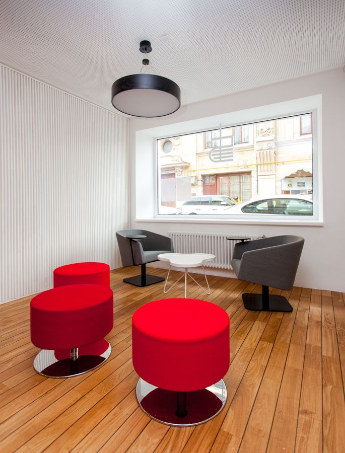 Media Library with SENAB Russia. Swedese. Open swivel stool.  Flower table. Lammhults. Easychair CLUB-17.