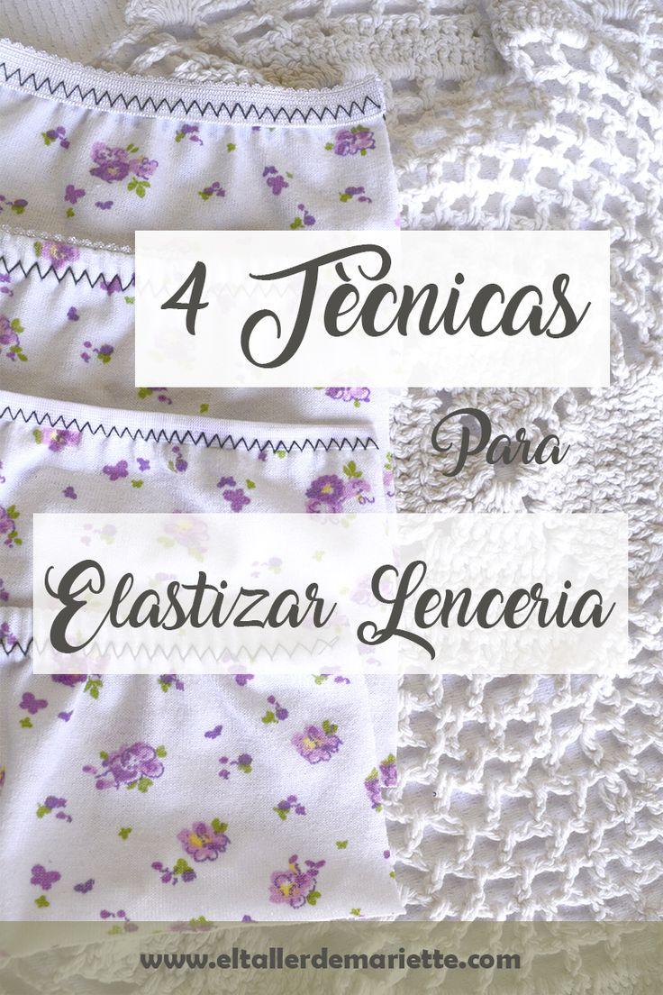 Aprende a elastizar ropa interior con estas 4 Técnicas de elastizado. Además te muestro como lograr un elastizado parejo + video paso a paso!