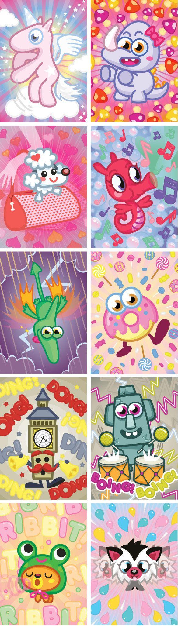 Moshi Monster Cards on Behance For the Home Pinterest