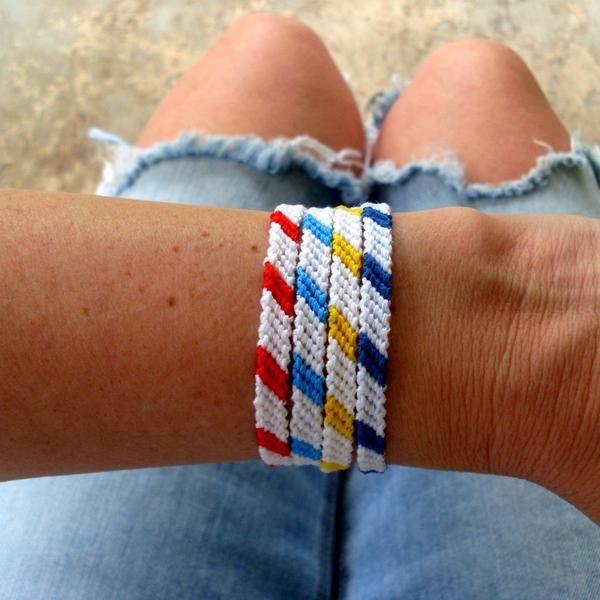 Two Color Braided Beach Bracelets Cool Friendship Bracelets