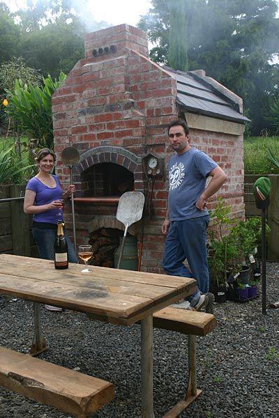 Jamie's and Katrina's brick pizza oven.