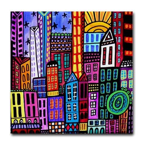Tile Coasters  City Art  New york City Art by HeatherGallerArt, $20.00