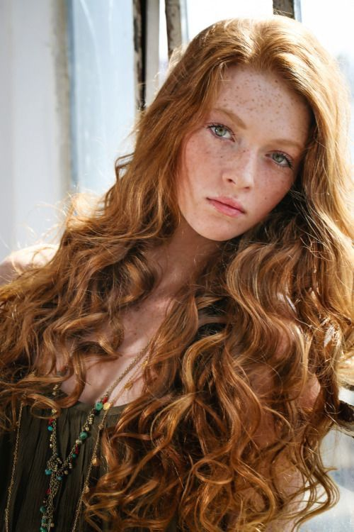 Portrait with beautiful long hair