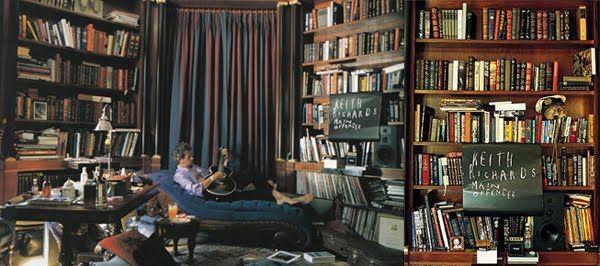 Είναι ο ήρωάς μου... ο Κιθ Ρίτσαρντς! Με τέτοια βιβλιοθήκη και αυτό το rock attitude... αδυνατώ να αντισταθώ ;-)