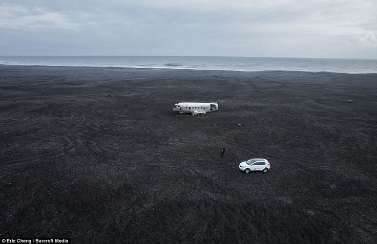 Off road: The plane is located around six miles off the main road west of Vik on Sólheimas...