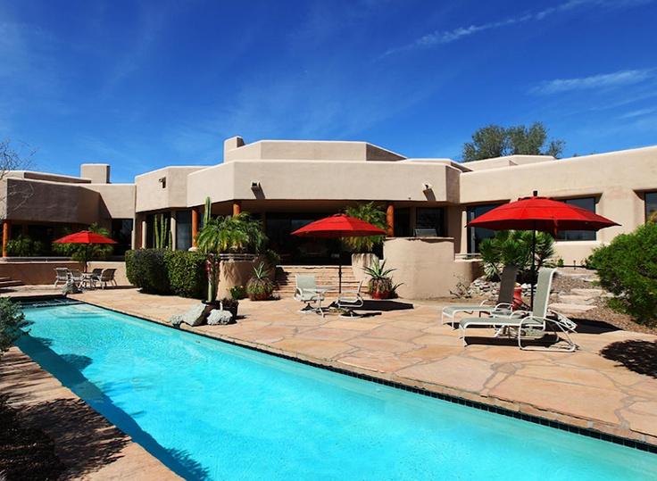 elongated lap pool at this scottsdale arizona home scottsdale pools pinterest lap pools