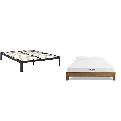 Modway Mod 5469 Brn Corinne Bed Frame Queen Brown With Modway