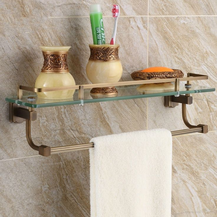 1000 ideas about copper bathroom accessories on pinterest - Bathroom accessories glass shelf ...