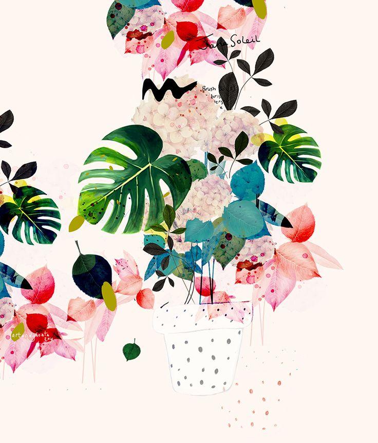 floral... Transparence, aquarelle, photoshop