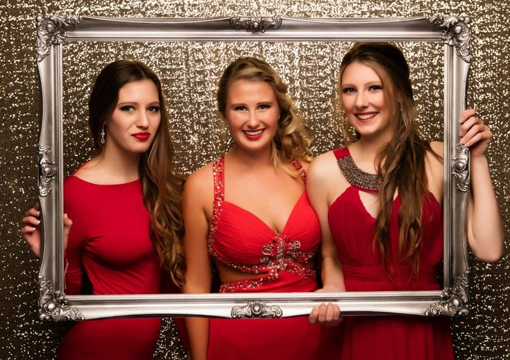 Kaipara Ball 2015. Three gorgeous red gowns! www.whitedoor.co.nz