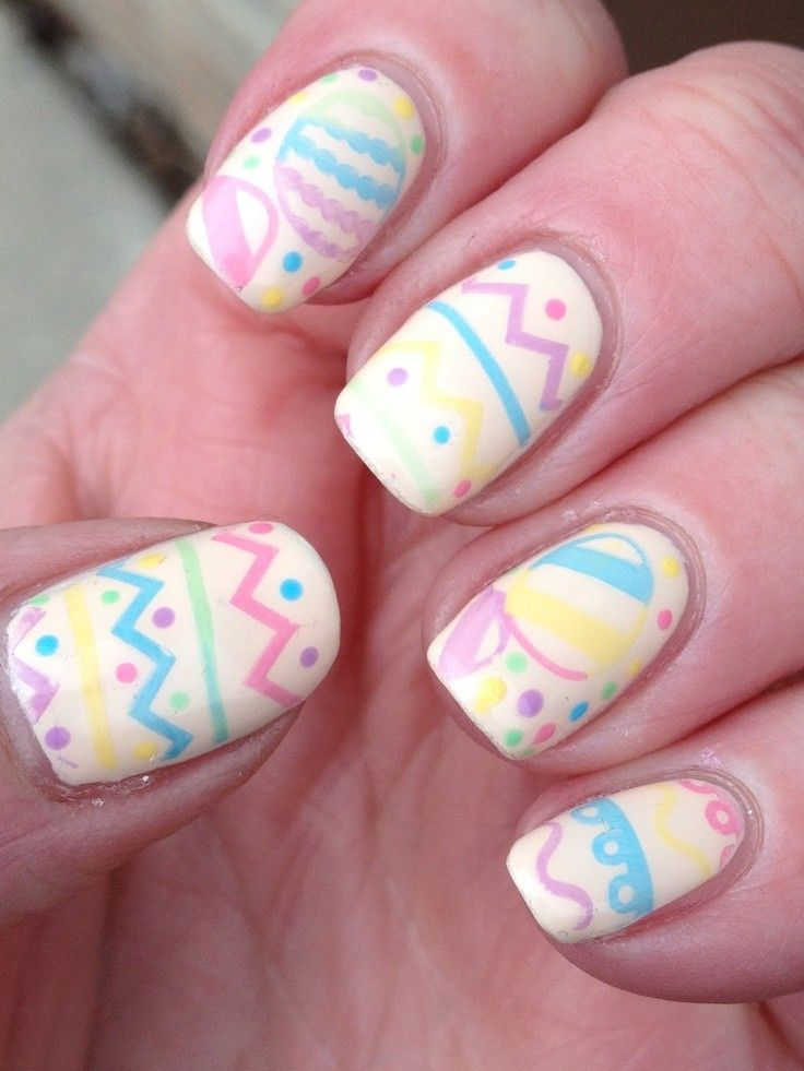 Easter Eggs | 10 Easter-Inspired Manicures to Copy Right Now | Bustle