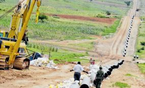 Photo:                   The Nation                                    A man walks along the already set 20-inch 450km Kenya Pipeline Company [KPC} pipes at Kokotoni in this picture taken on July 15, 2015. PHOTO | FILE | NATION MEDIA GROUP                   By John...
