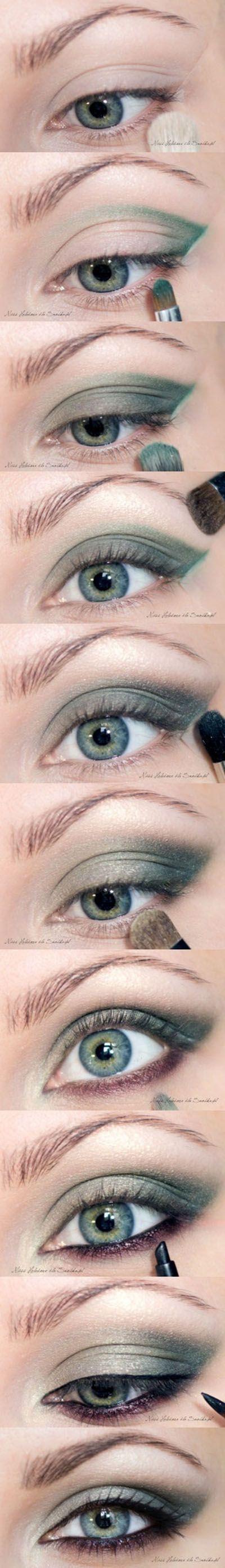 para quem tem olhos verdes - Sombras verdes para make de natal | MariMoon