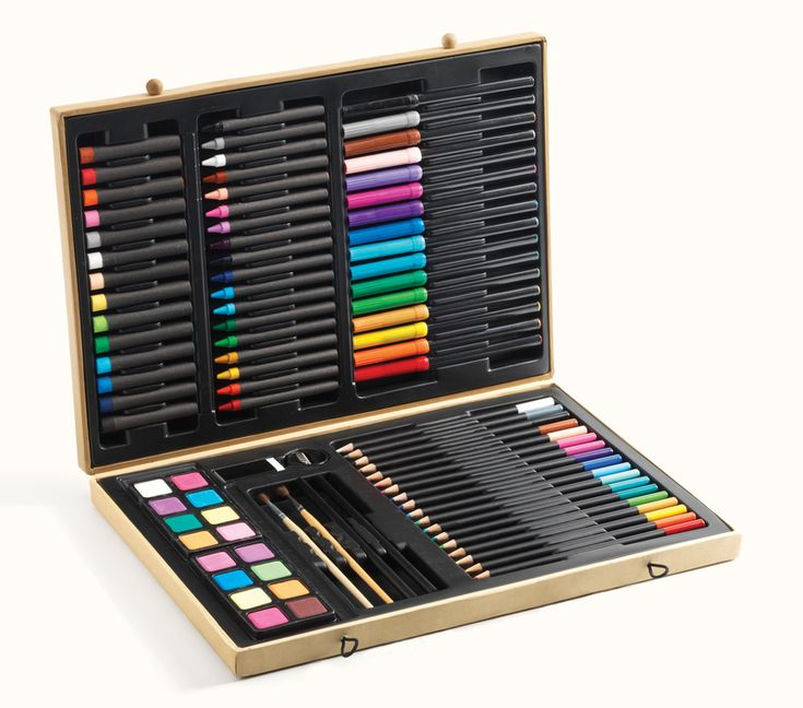 Beautifully presented in a beautiful qualitybox, this set has everything that you need to bring the artist out of your child. Help them keep everything neatly in place, with compartments for the included pencils, markers, crayons, gel pastels, paint, paint brushes, sharpener and eraser. A stunning and practical gift that will stimulate your child's creativity.  Suitable for ages: 9  Years