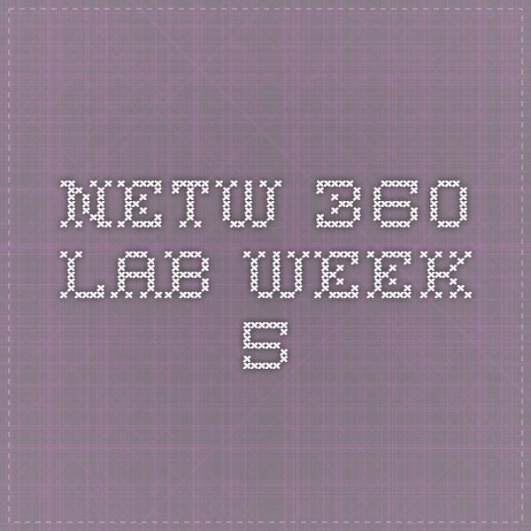 netw360 week 7 lab Netw360 week 7 lab kyle pederson netw360, ben brezinski 4/16/12 lab #7 hands on lab microsoft network monitor introduction and wireless frames when we expanded frame 4 the signal strength was -60dbm, the data rate was 1mbps, and the ssid in the beacon frame was amory.