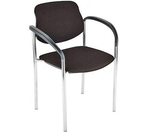 Dieser Stuhl ist eine praktische Sitzgelegenheit für Ihre Gäste! Das Gestell des robusten Möbels wurde für einen edlen Glanz verchromt und harmoniert perfekt mit der schwarzen Sitzfläche. Der Bezug aus Spezialfasern verbirgt die bequeme Polsterung aus Schaumstoff, die sowohl auf der Sitzfläche als auch an der Rückenlehne für Komfort sorgt. Ein klassisches Möbel von CANTUS!