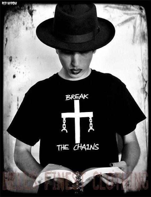 T-Shirt Break The Chains Atheist Freethinker Anti-Religion