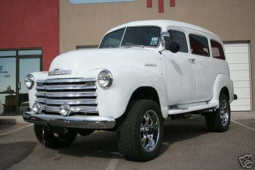 TO THE BONE. 1950 Chevrolet: Suburban Carryall - Chevy HHR Network