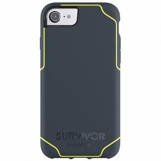 Griffin Survivor -Journey Strong / Military Standard 810-G standards [6.6 Ft.] Drop Protection On Concrete Cover Case Blue/Denim Fluorescent Fits Apple Iphone 7 [4.7 inch ] Cellphone