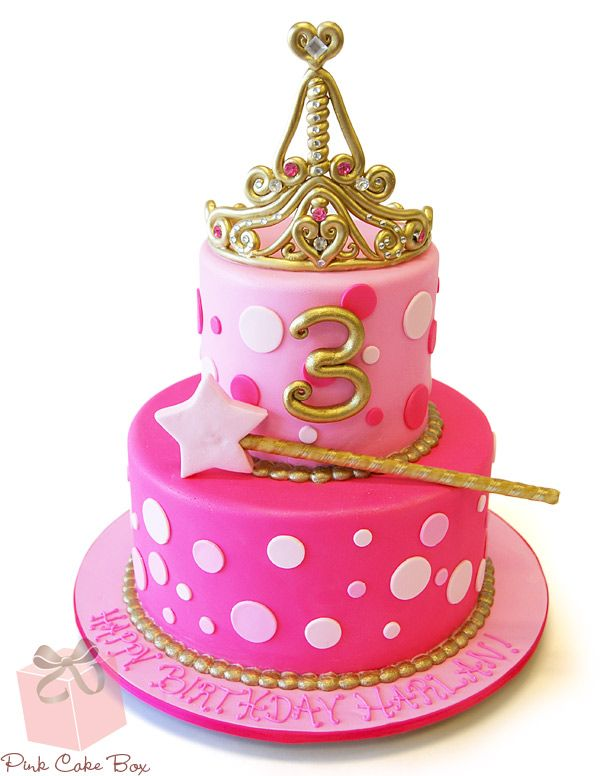 3rd Birthday Tiara Cake by Pink Cake Box