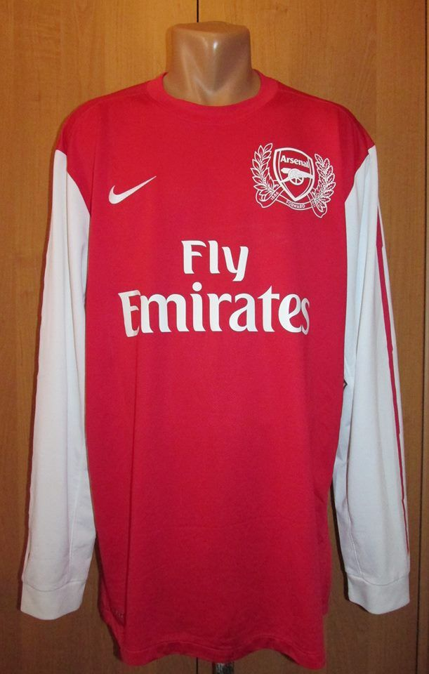 065a571c0 Arsenal 2011 2012 home football shirt by Nike 125 years anniversary jersey  soccer long sleeve Gunners AFC LS  Longsleeve  arsenal  afc  gunners  nike   125 ...