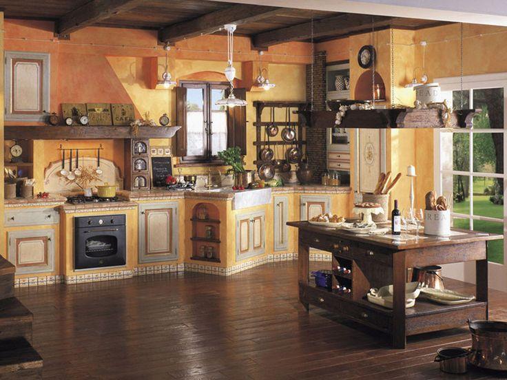 Cucina in muratura rustica n.13